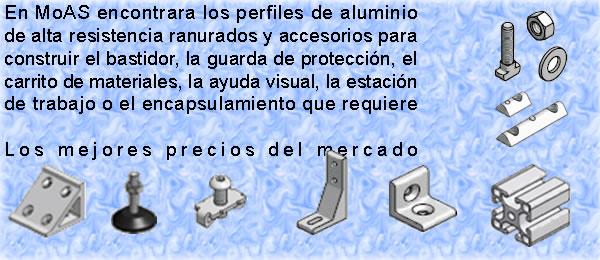 Perfil de aluminio estructural moas modular aluminum for Perfiles de aluminio catalogo